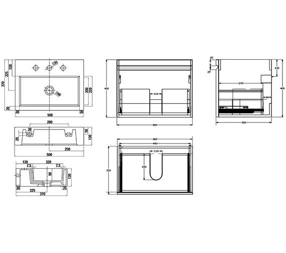 Technical drawing QS-V88166 / MG8503