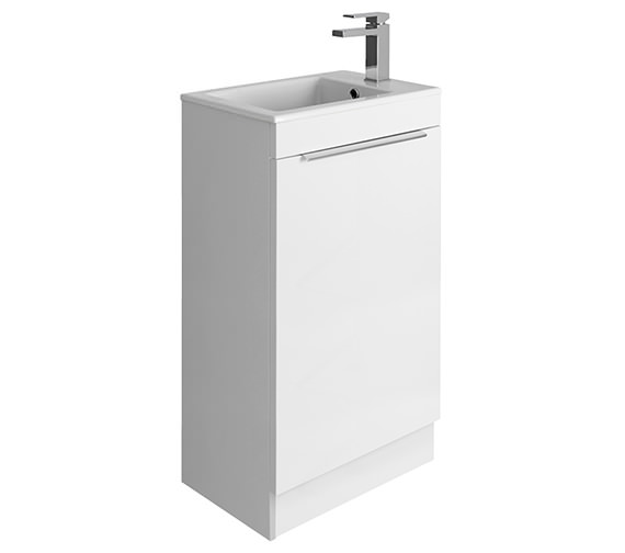 Crosswater Zion 500mm White Gloss Floor Door Unit And Basin