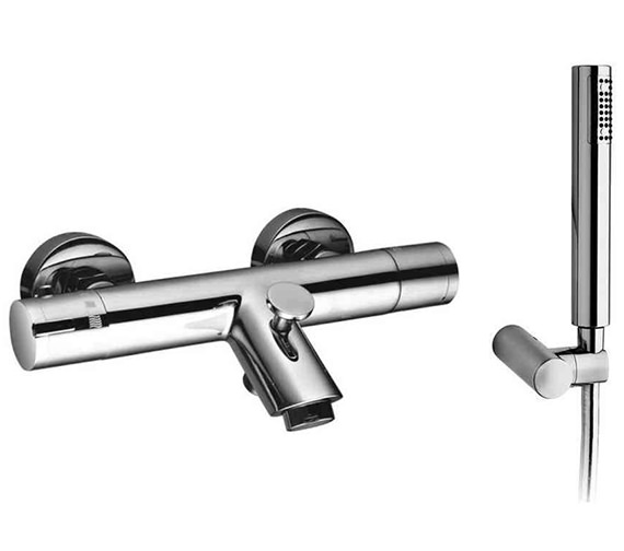 Saneux Cos Wall Or Deck Thermostatic Bath Shower Mixer Tap And Handset