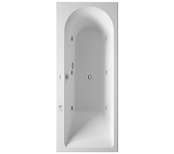 Duravit Darling New 1700 x 700mm Bath With Right Slope And Jet-System