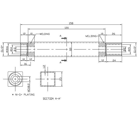 Technical drawing QS-V86355 / S1013