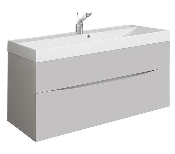 Bauhaus Glide 1000mm Storm Grey Wall Hung Basin Unit