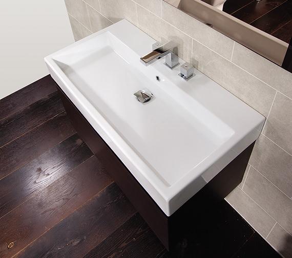 Alternate image of Saneux Matteo 500mm Wenge Handleless Drawer Unit With Washbasin
