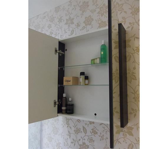 Saneux Austen 600mm Gloss White 2 Door Mirror Cabinet