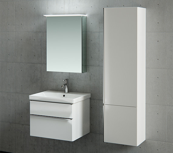 Saneux Prague 1500mm Gloss White Tall Side Unit