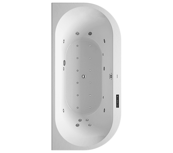Duravit Darling New 1900 x 900mm Back-To-Wall Bath With Combi-System L