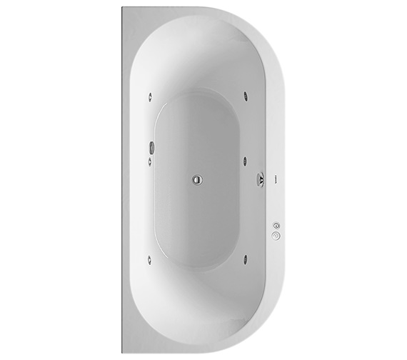 Duravit Darling New 1900 x 900mm Back-To-Wall Bath With Jet-System