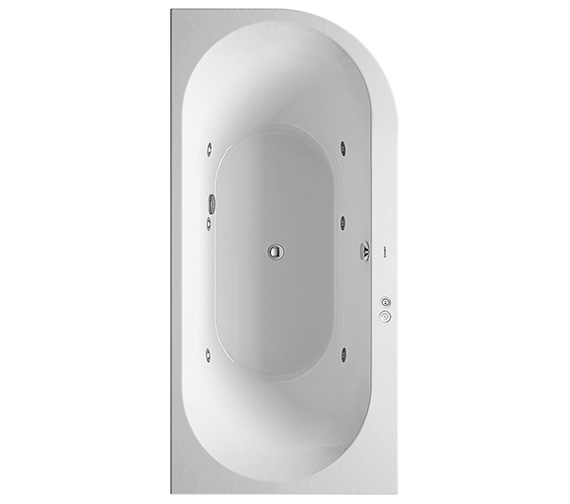 Duravit Darling New 1900 x 900mm Corner Left Bath With Jet-System