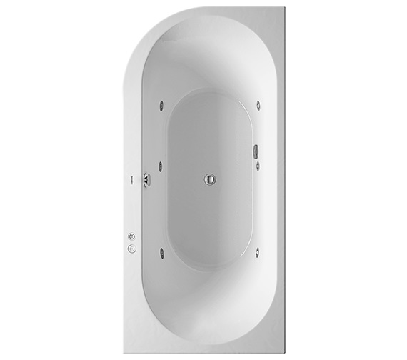 Duravit Darling New 1900 x 900mm Corner Right Bath With Jet-System