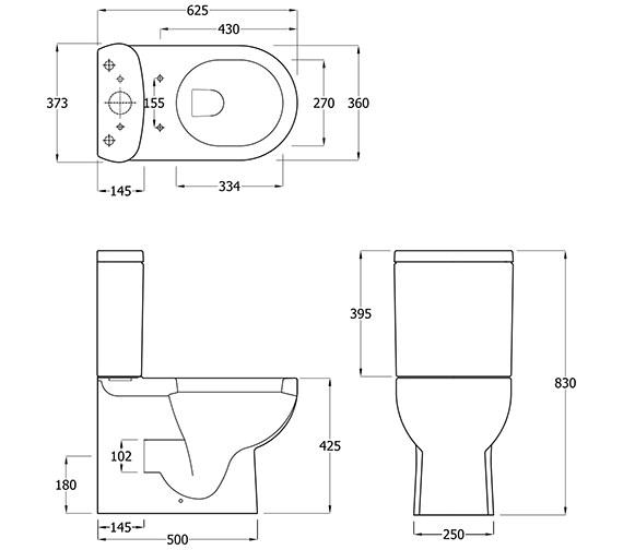 Technical drawing QS-V81318 / EC1009