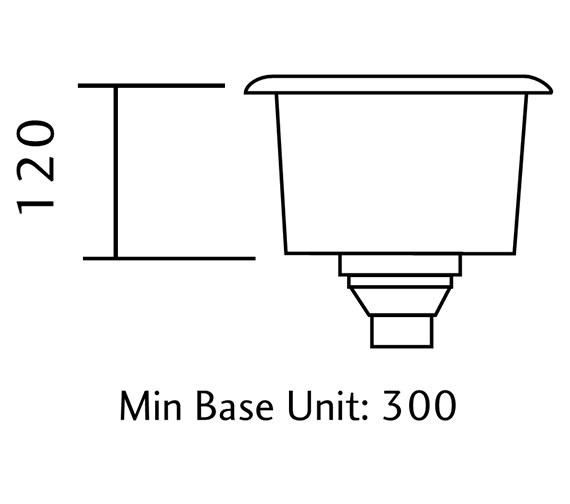Technical drawing QS-V11068 / UB15/