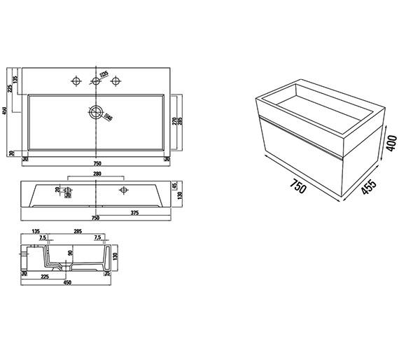 Technical drawing QS-V88187 / M0301.1