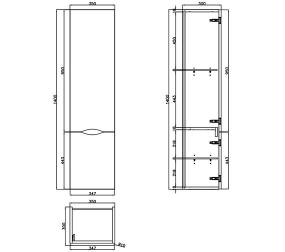 Technical drawing QS-V29651 / 700305