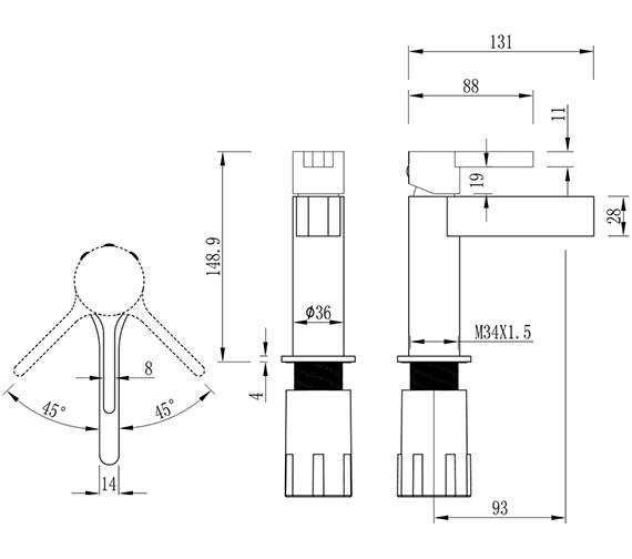 Technical drawing QS-V25422 / SE114DNC