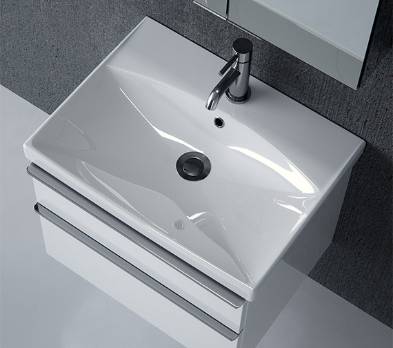 Saneux Prague 500mm Wide Gloss White Washbasin