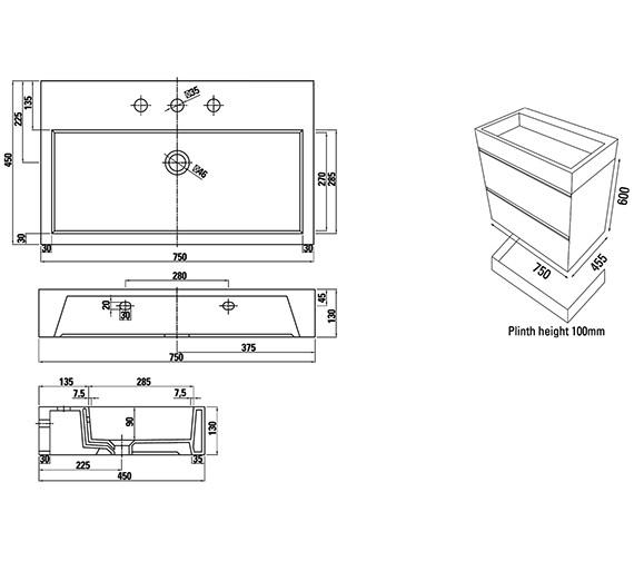 Technical drawing QS-V88189 / M0301.2