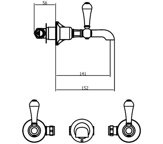 Technical drawing QS-V41814 / BL131WNC_LV