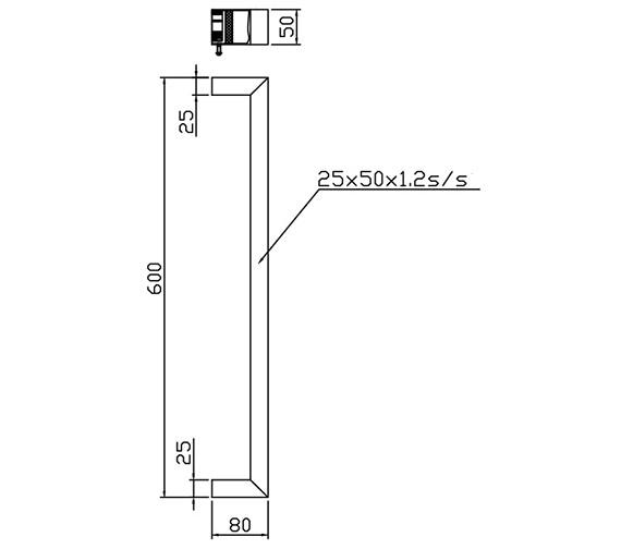 Technical drawing QS-V86423 / TE-7212