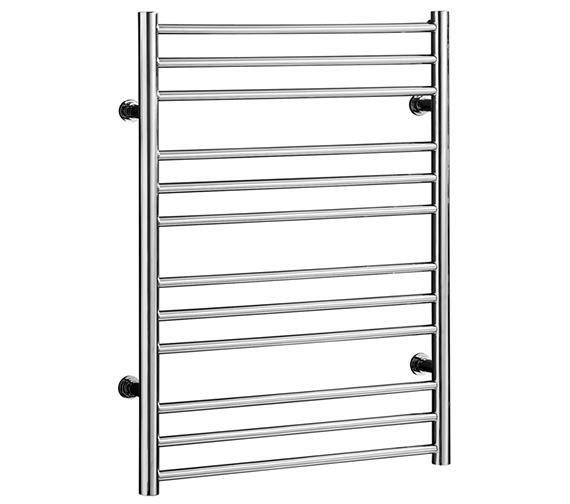 Saneux Tempus 400mm Wide Straight Stainless Steel Heated Towel Rail