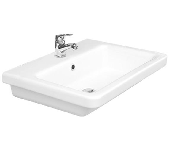 Saneux Indigo 600mm Gloss White 1 Tap Hole Washbasin