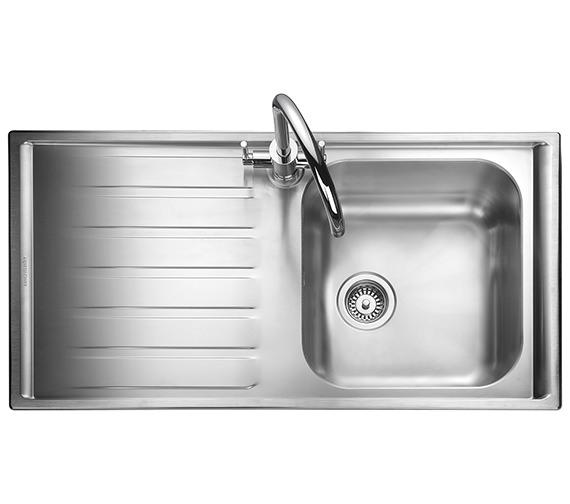 Rangemaster Manhattan 1010 x 515mm Stainless Steel 1.0B Inset Kitchen Sink