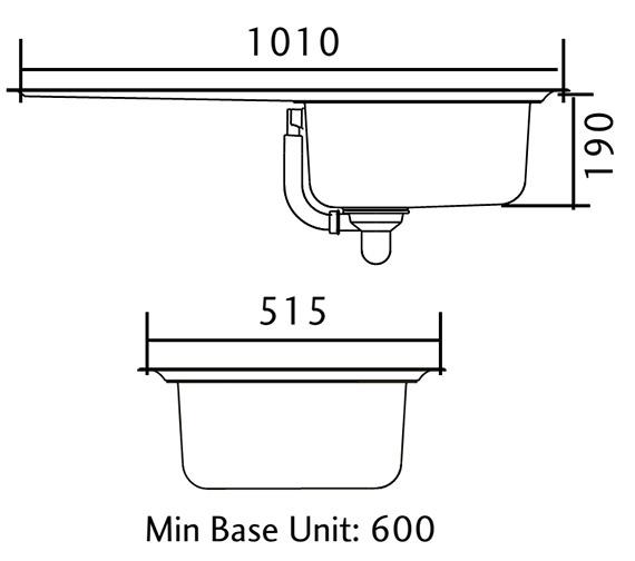 Technical drawing QS-V12140 / MN10101L/