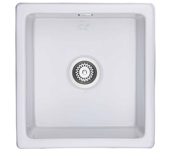 Rangemaster Rustique 450 x 475mm Fire-Clay Ceramic 1.0B Undermount Sink