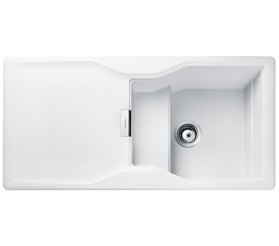 Rangemaster Magma 1000 x 500mm Igneous Granite White 1.0B Inset Sink