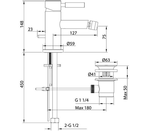 Technical drawing QS-V86320 / TE260