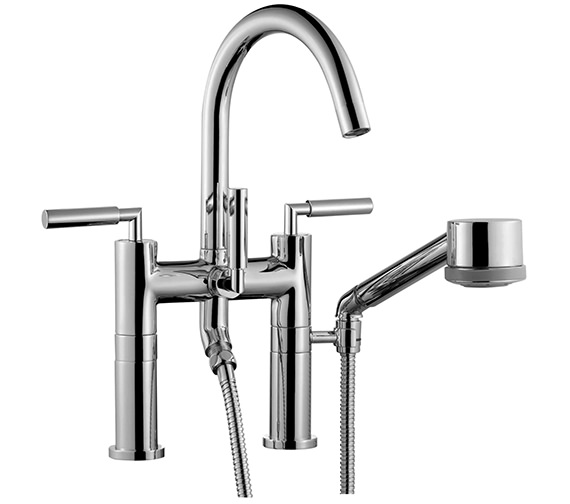 Saneux Tempus Deck Mounted Bath Shower Mixer Tap And Handset