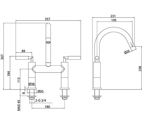 Technical drawing QS-V86334 / TE814