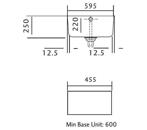 Technical drawing QS-V12156 / CCBL595WH/