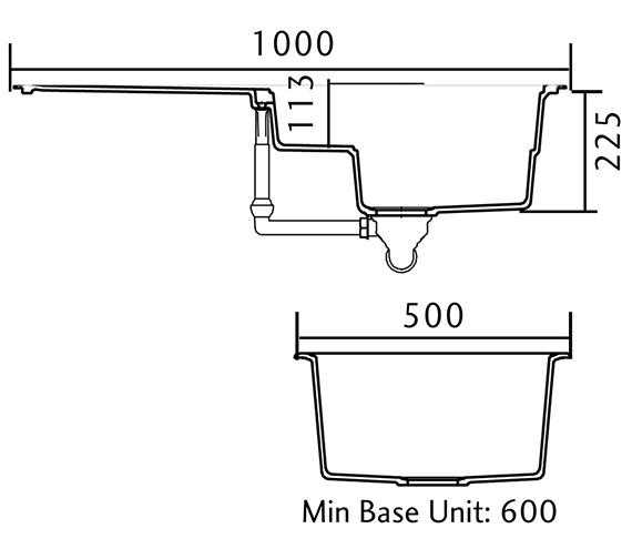 Technical drawing QS-V18854 / MAG1051CW/