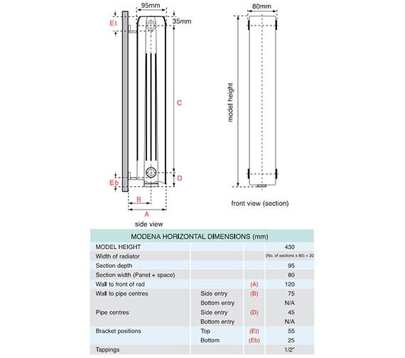 Technical drawing QS-V35688 / FALH4H12S