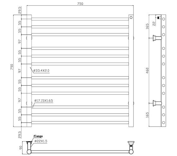 Technical drawing QS-V86428 / TE-7056