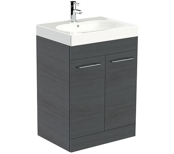 Saneux Austen 600mm Alaska 2 Door Cabinet With Washbasin