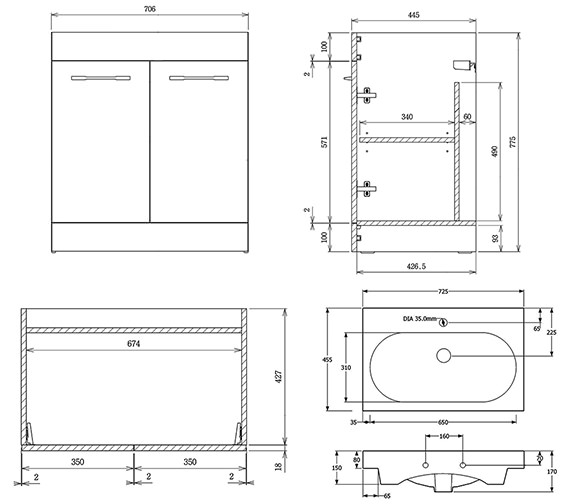Technical drawing QS-V88239 / 500311