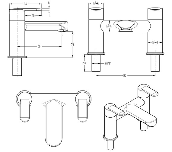 Technical drawing QS-V29903 / VO322DC