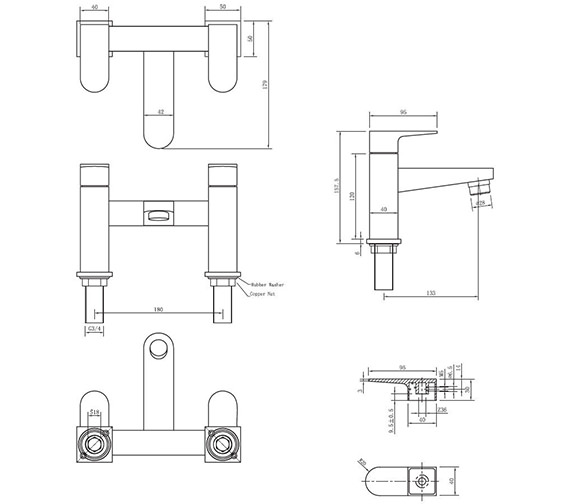 Technical drawing QS-V38019 / MO322DC