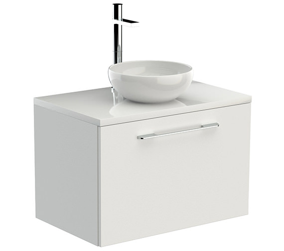 Saneux Austen 710mm Gloss White 1 Drawer Unit With Worktop And Basin