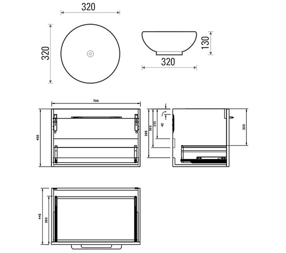 Technical drawing QS-V88245 / 50018