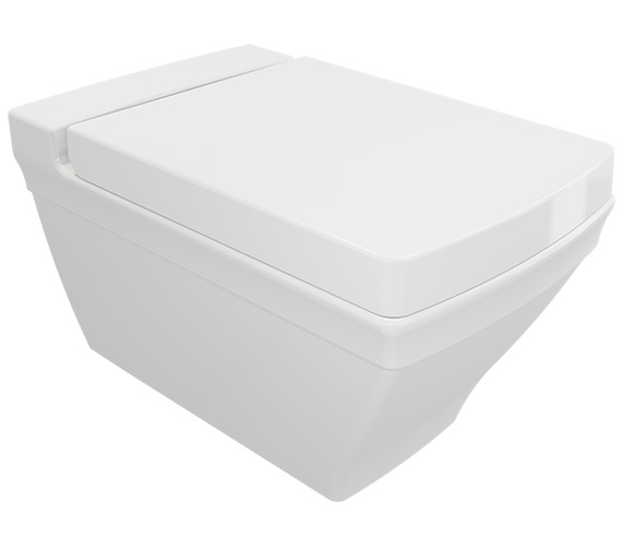Saneux Plaza Wall Hung Pan With Seat And Cover