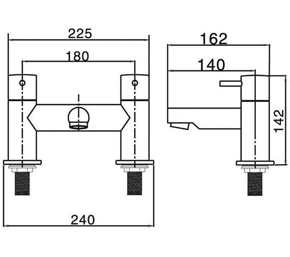 Technical drawing QS-V38329 / KL322DC