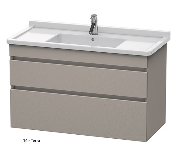 Additional image of Duravit DuraStyle 1000mm 2 Drawers Unit With 1050mm Starck 3 Basin