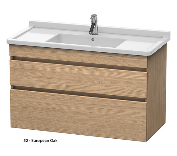 Alternate image of Duravit DuraStyle 1000mm 2 Drawers Unit With 1050mm Starck 3 Basin