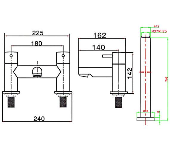 Technical drawing QS-V38339 / KL322DC