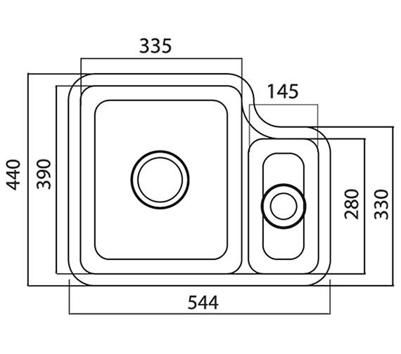 Technical drawing QS-V27673 / LN15WHHOMESKL