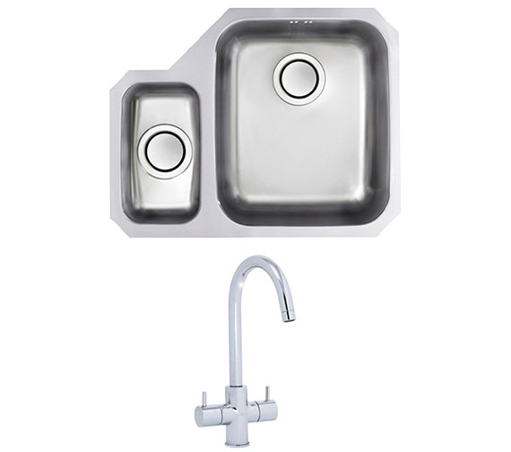 Astracast Edge D1 1.5 Bowl Polished Stainless Steel Undermount Sink And Tap