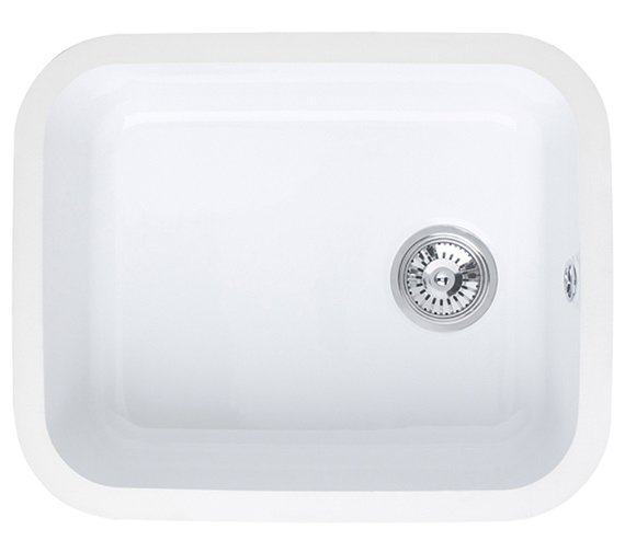 Astracast Lincoln 5040 Main Bowl Ceramic Gloss White Undermount Sink