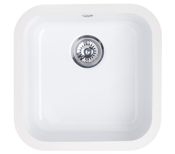 Astracast Lincoln 4040 Main Bowl Ceramic Gloss White Undermount Sink